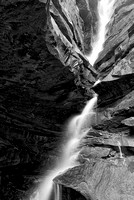 Broken Rock Falls Black & White, Old Man's Cave Area, Hocking Hills State Park, Ohio