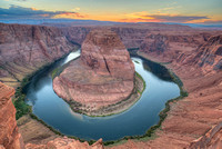 Horseshoe Bend Sunset, Colorado River, Arizona