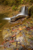 Waterfall, Fall Creek Gorge Preserve, Indiana