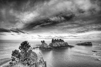 Thunder Rock Cove Viewpoint #2 Black & White, Samuel H. Boardman State Park, Oregon