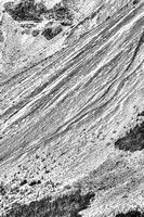 Crowfoot Glacier Abstract Black & White, Banff National Park, Alberta