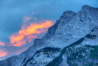Mt. Inglismaldie Sunrise, Lake Minnewanka Scenic Drive, Banff National Park, Alberta