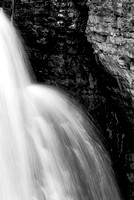 Miners Falls Abstract Black & White, Pictured Rocks National Lakeshore, Michigan