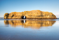 Sea Arch at Low Tide, Myers Beach, Pistol River State Park, Oregon