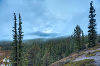 """Foggy Mountain,"" Saskatchewan Crossing Viewpoint, Banff National Park, Alberta"