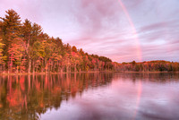 Morning Rainbow, Council Lake, Hiawatha National Forest, Michigan