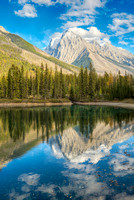 Chancellor Peak from Faeder Lake, Yoho National Park, British Columbia