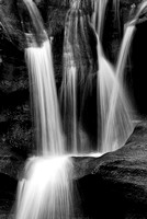 Upper Falls Intimate Black & White, Old Man's Cave Area, Hocking Hills State Park, Ohio