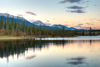 Athabasca River at Sunrise, Jasper National Park, Alberta