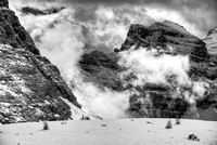 """Valley Fog"" Black & White, Larch Valley, Banff National Park, Alberta"