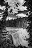 Wapta Falls Black & White, Yoho National Park, British Columbia
