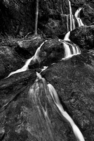 Place of A Thousand Drips Black & White, Roaring Fork, Great Smoky Mountains National Park, Tennessee