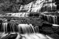Hector Falls Black & White, Schuyler County, New York