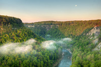 Great Bend Overlook Moonset, Letchworth State Park, New York