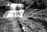 Buttermilk Creek Black & White, Buttermilk Falls State Park, New York