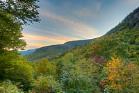 Dusk from Cold River Overlook, Evans Notch, White Mountain National Forest, Maine