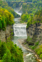 Upper Falls, Middle Falls and Lower Falls, Letchworth State Park, New York