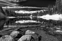 Twin Lakes Black & White, Mammoth Lakes, Inyo National Forest, California