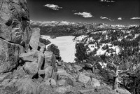 Red Lake Vista Black & White, Eldorado National Forest, California