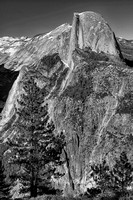 Half Dome from Glacier Point Black & White, Yosemite National Park, California