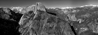 Half Dome from Glacier Point Panorama Black & White, Yosemite National Park, California