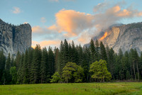 Half Dome from Stoneman Meadow at Sunset, Yosemite National Park, California