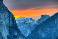 Yosemite Valley at Sunrise from Tunnel View, Yosemite National Park, California