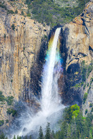Bridalveil Falls Rainbow from Tunnel View, Yosemite National Park, California