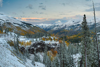 Snowy Red Mountain Pass at Sunset, Uncompahgre National Forest, Colorado