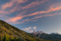 Red Mountain at Sunset, Red Mountain Pass, Uncompahgre National Forest, Colorado