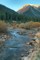 South Mineral Creek at Sunrise, San Juan National Forest, Colorado