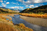 San Miguel River, Telluride Valley Floor, San Miguel County, Colorado