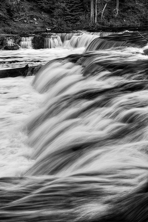 Lower Tahquemenon Falls Black & White, Tahquemenon Falls State Park, Michigan
