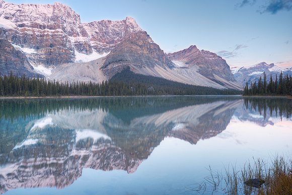 Bow Lake from the Bow River Outlet at Sunrise, Banff National Park, Alberta