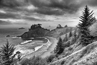 Spruce Creek Overlook #1 Black & White, Samuel H. Boardman State Park, Oregon