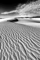 Heart of the Dunes Black & White, White Sands National Monument, New Mexico