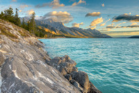 Abraham Lake & Mt. Abraham at Sunrise, David Thompson Country, Alberta