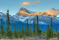 Mt. Peskett at Sunrise from the Kootenay Plains, David Thompson Country, Alberta