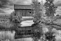 Foster Covered Bridge Black & White, Washington County, Vermont
