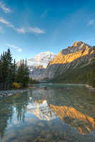 Mt. Edith Cavell at Sunrise from Cavell Lake Outlet Stream, Jasper National Park, Alberta