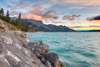 Abraham Lake & Mt. Abraham at Dawn, David Thompson Country, Alberta