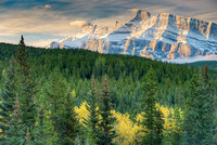 Mt. Rundle Morning, Lake Minnewanka Scenic Drive, Banff National Park, Alberta