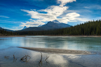 North Saskatchewan River, Glacier Lake Trail, Banff National Park, Alberta