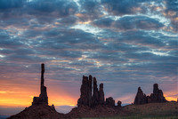 Totem Pole at Sunrise, Monument Valley Navajo Tribal Park, Arizona