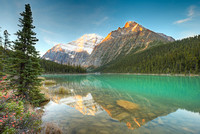 Mt. Edith Cavell at Sunrise from Cavell Lake, Jasper National Park, Alberta
