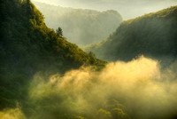 Sunrise from the Gorge Trail, Letchworth State Park, New York