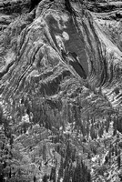 Mt. Abraham Details Black & White, David Thompton Country, Alberta