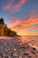 Au Sable Point Sunset, Pictured Rocks National Lakeshore, Michigan