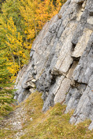 Rock Face Geometry, Bow Valley Parkway, Banff National Park, Alberta