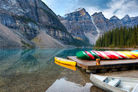 Canoe Dock, Moraine Lake, Banff National Park, Alberta